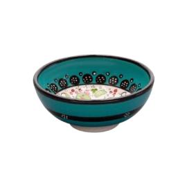 Nimet tapaszos bowl , leveses tál  12cm  türkiz