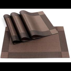 Asztali tányéralátét csokoládé színben