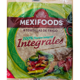 Mexifoods teljes kiőrlésű Tortilla 20cm 8db