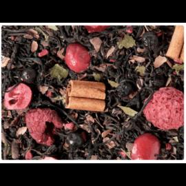 Fekete tea keverék, ízesítve · Áfonya / Málna / Csokoládé  - 50g
