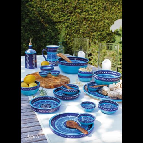 kezmuves-agyagkeramia-etkeszlet-kek-kezzel-festett-bowl and dishes