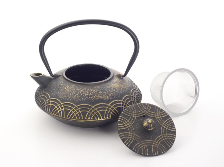 "Japán teáskanna  ""Anhao"" fekete-arany  0,85 l"