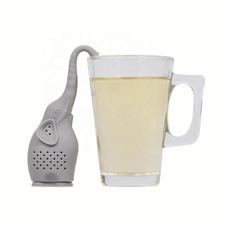 Teafilter szilikon elefánt (teafilter) narancssárga
