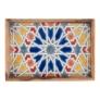 Kép 2/3 - olajfa-mozaik-talca-sarga-22x32cm