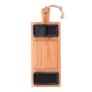 Kép 1/4 - Bükkfa tálaló 49 cm-es 3 rekeszes edények 2x7cm és 1x15cm fekete