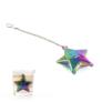 Kép 1/5 - Tealabda mosolygós csillag formába öntve színes titán bevonatú ( teafilter )