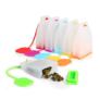 Kép 2/4 - Teafilter szilikon PIROS színben