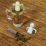 Kép 4/4 - Tealabda lazulgató figura (teafilter) világoskék