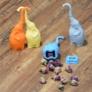 Kép 4/4 - Teafilter szilikon elefánt (teafilter) narancssárga